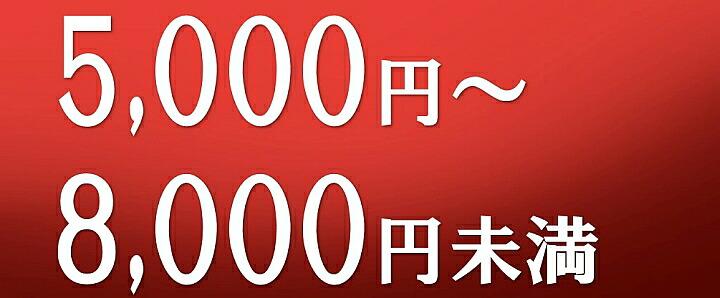 5000円〜8000円未満