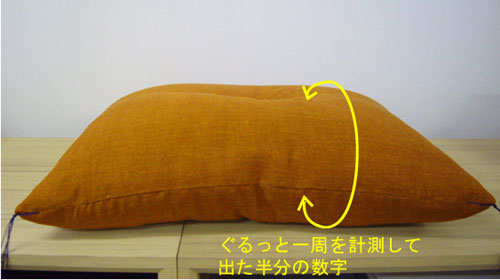 座布団サイズ計測方法