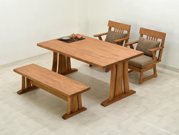 takara21 | Rakuten Global Market: 4 150 cm dining table set bench ...
