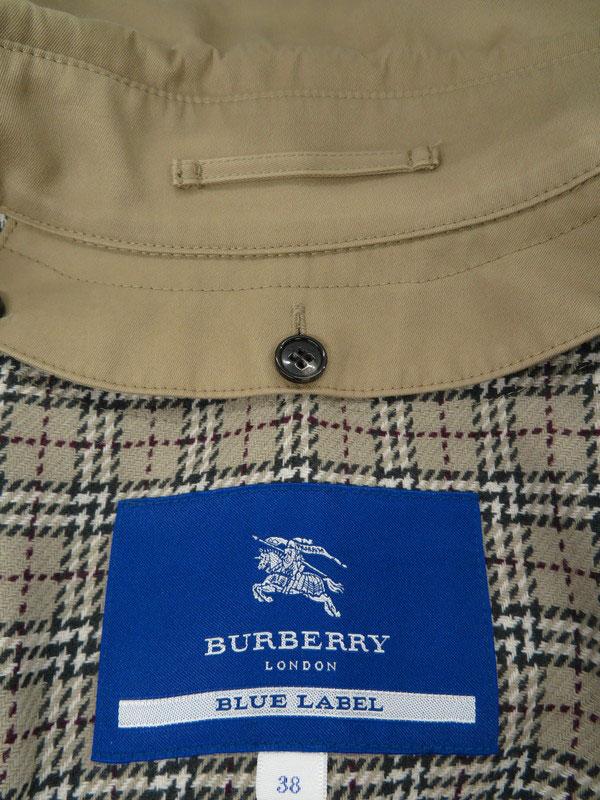 【BURBERRY BLUE LABEL】【アウター】バーバリーブルーレーベル『ライナー付コート size38』レディース 1週間保証【中古】