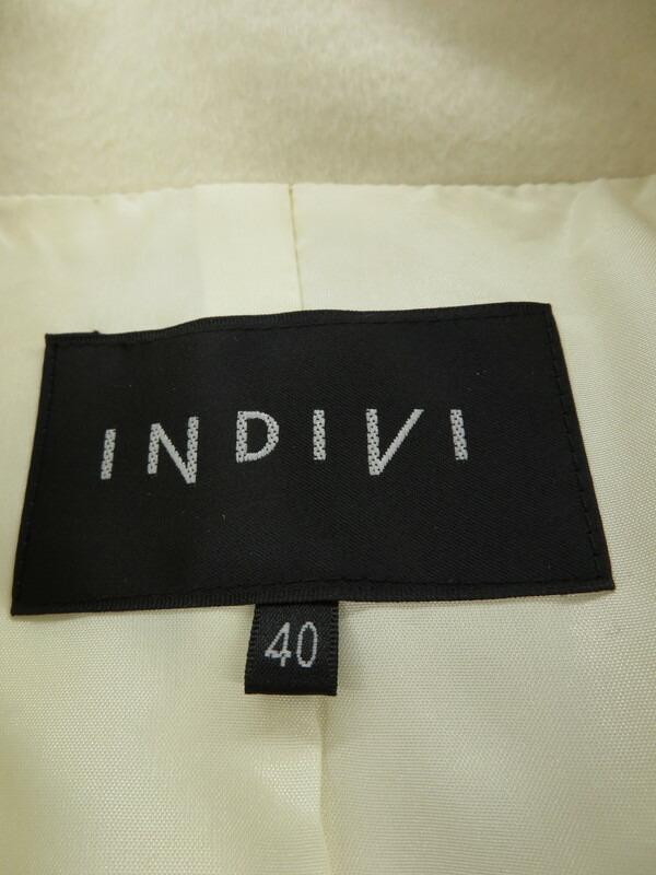 【INDIVI】【アウター】インディヴィ『カシミヤ混ウールジャケット size40』レディース ハーフコート 1週間保証【中古】