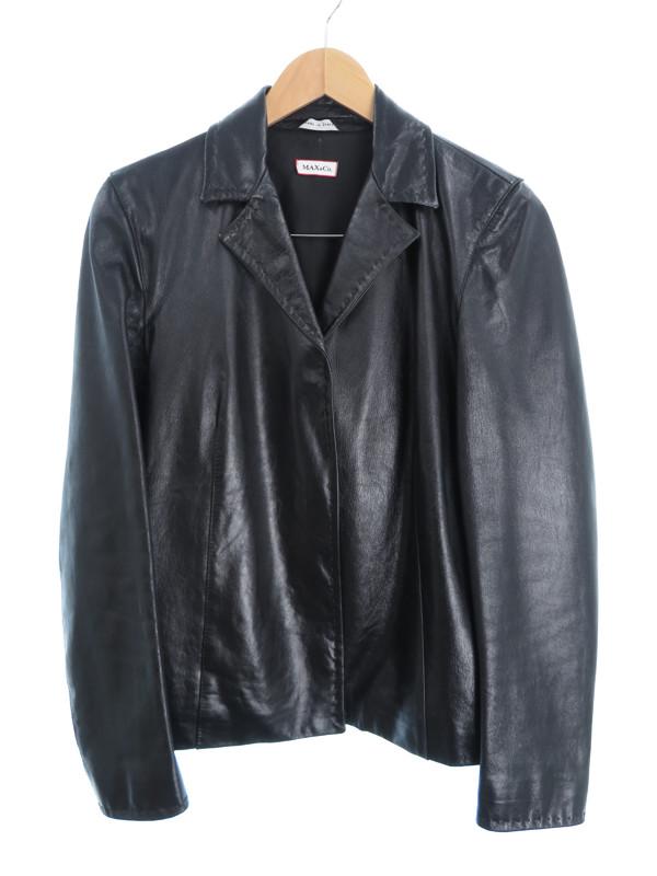 【MAX&CO】【アウター】マックスアンドコー『テーラードレザージャケット size40』レディース 1週間保証【中古】