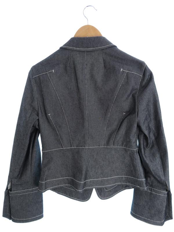 【MaxMara】【アウター】マックスマーラ『テーラードデニムジャケット size42』レディース ブレザー 1週間保証【中古】