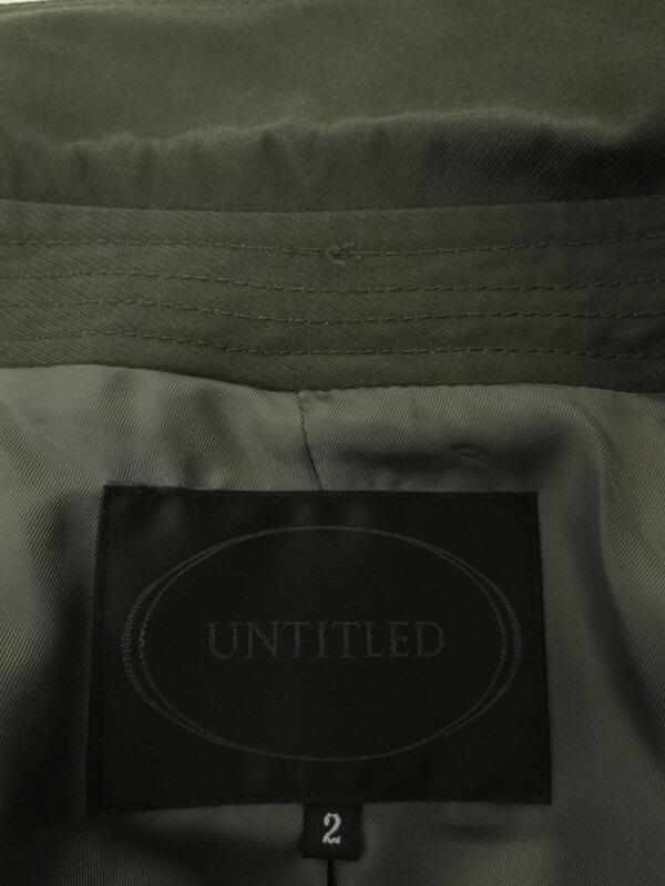 【UNTITLED】【アウター】アンタイトル『コート size2』レディース 1週間保証【中古】
