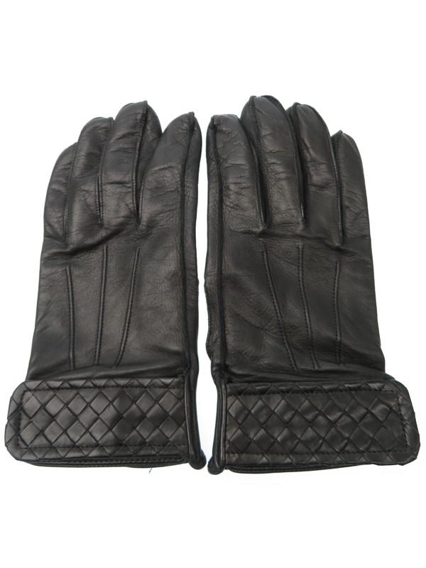 【BOTTEGA VENETA】ボッテガヴェネタ『レザーグローブ size85』メンズ 手袋 1週間保証【中古】
