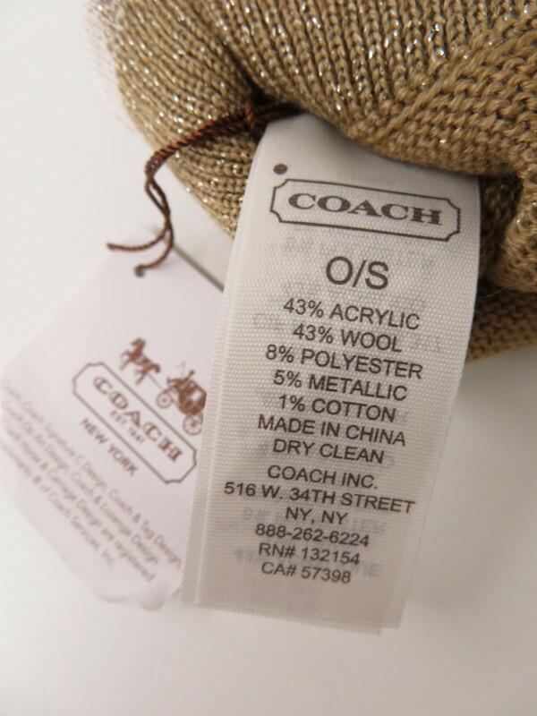 7c6b6860468a 【COACH】コーチ『ラメ入りグローブ sizeO/S』レディース 手袋 1週間保証【中古】