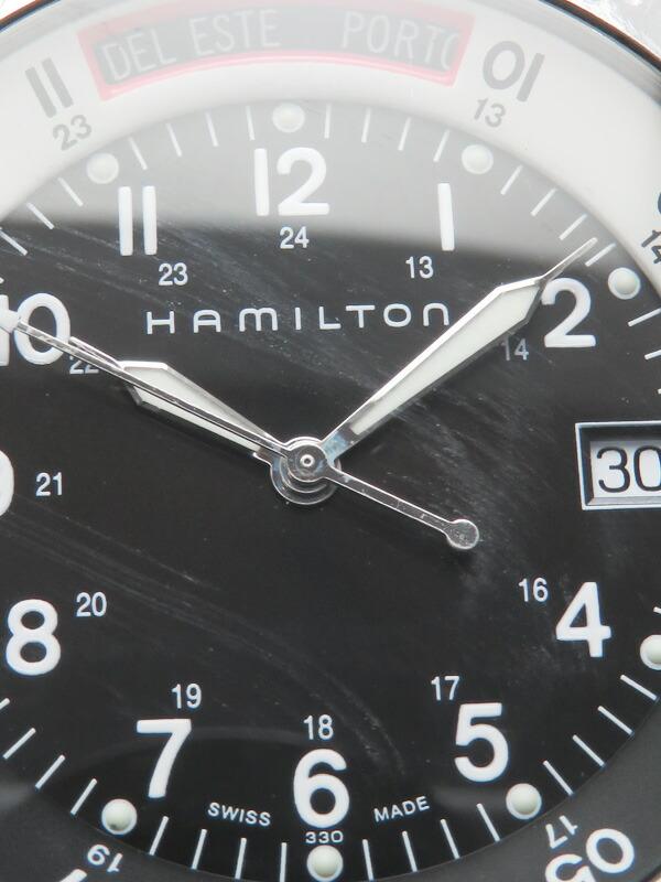 【HAMILTON】ハミルトン『カーキ ネイビー サブ GMT』H74511133 メンズ クォーツ 1週間保証【中古】
