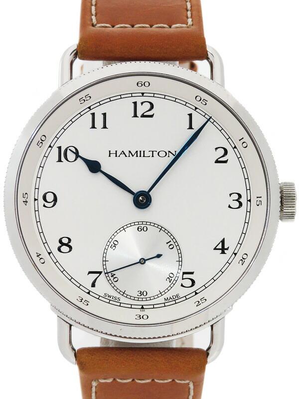 【HAMILTON】【120周年記念1892本限定】【裏スケ】ハミルトン『カーキ ネイビー パイオニア』H78719553 メンズ 手巻き 3ヶ月保証【中古】