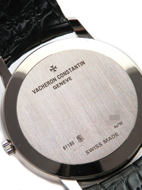 【VACHERON CONSTANTIN】【WGケース】ヴァシュロンコンスタンタン『パトリモニー ラージ コンテンポラリー』81180/000G-9117 メンズ 手巻き 6ヶ月保証【中古】