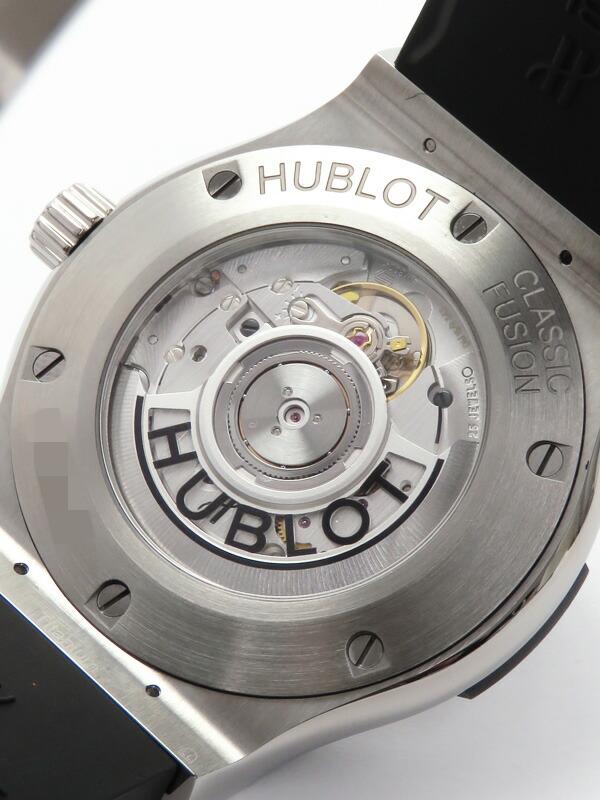 【HUBLOT】【裏スケ】【仕上済】ウブロ『クラシックフュージョン チタニウム』542.NX.1171.RX メンズ 自動巻き 6ヶ月保証【中古】