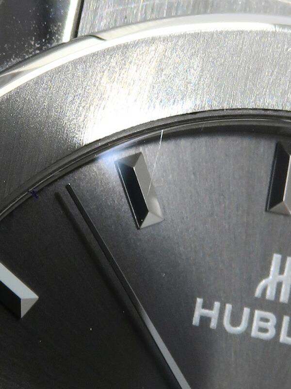 【HUBLOT】【裏スケ】【内部点検・仕上済】ウブロ『クラシックフュージョン レーシング グレーチタニウム』542.NX.7071.LR メンズ 自動巻き 6ヶ月保証【中古】