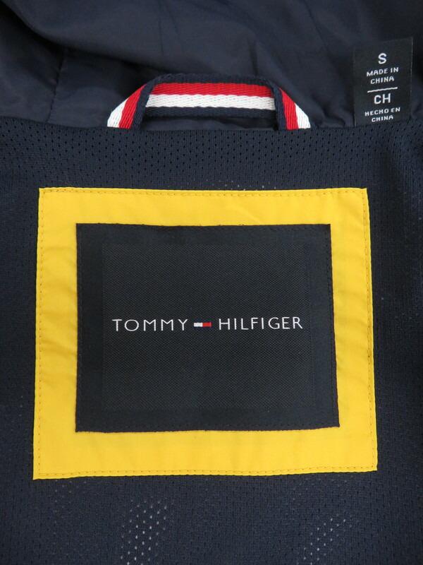 【TOMMY HILFIGER】【アウター】トミーヒルフィガー『ナイロン ジップアップジャケット sizeS/CH』メンズ ブルゾン 1週間保証【中古】