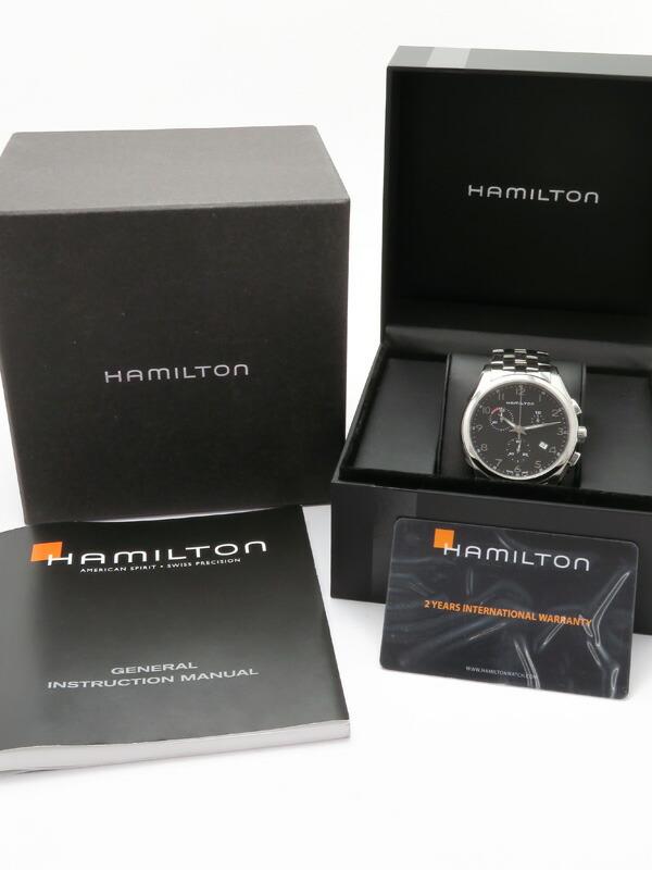 【HAMILTON】【 ハミルトン『ジャズマスター シンライン クロノグラフ』H38612133 メンズ クォーツ 1ヶ月保証【中古】