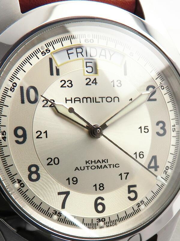 【HAMILTON】【裏スケ】ハミルトン『カーキ フィールド キング オートマティック』H64455523 メンズ 自動巻き 1週間保証【中古】