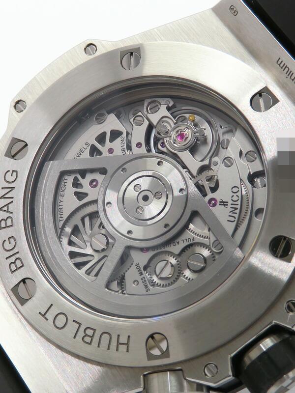 【HUBLOT】【裏スケ】ウブロ『ビッグバン ウニコ チタニウムセラミック』411.NM.1170.RX メンズ 自動巻き 6ヶ月保証【中古】