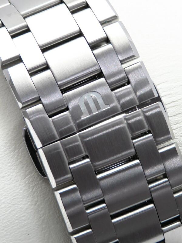 【MAURICE LACROIX】【電池交換済】モーリスラクロア『アイコン クロノグラフ』AI1018-SS002-131-1 メンズ クォーツ 1ヶ月保証【中古】