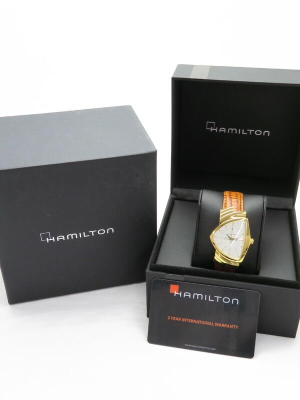 【HAMILTON】ハミルトン『ゴールド ベンチュラ』H24301511 メンズ クォーツ 1週間保証【中古】