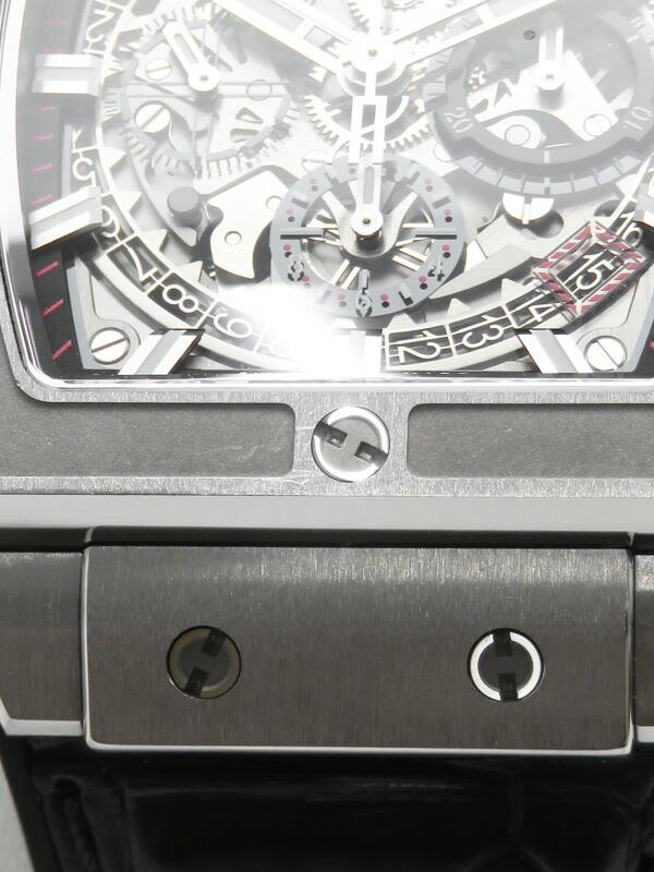 【HUBLOT】【裏スケ】【'18年購入】ウブロ『スピリット オブ ビッグバン チタニウム』641.NX.0173.LR メンズ 自動巻き 6ヶ月保証【中古】