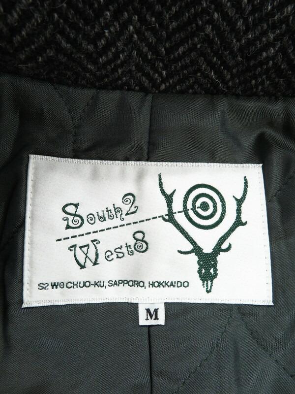 【SOUTH2 WEST8】【ノーフォークジャケット】【日本製】サウス2ウェスト8『ヘリンボーン柄中綿ジャケット sizeM』メンズ ブルゾン 1週間保証【中古】