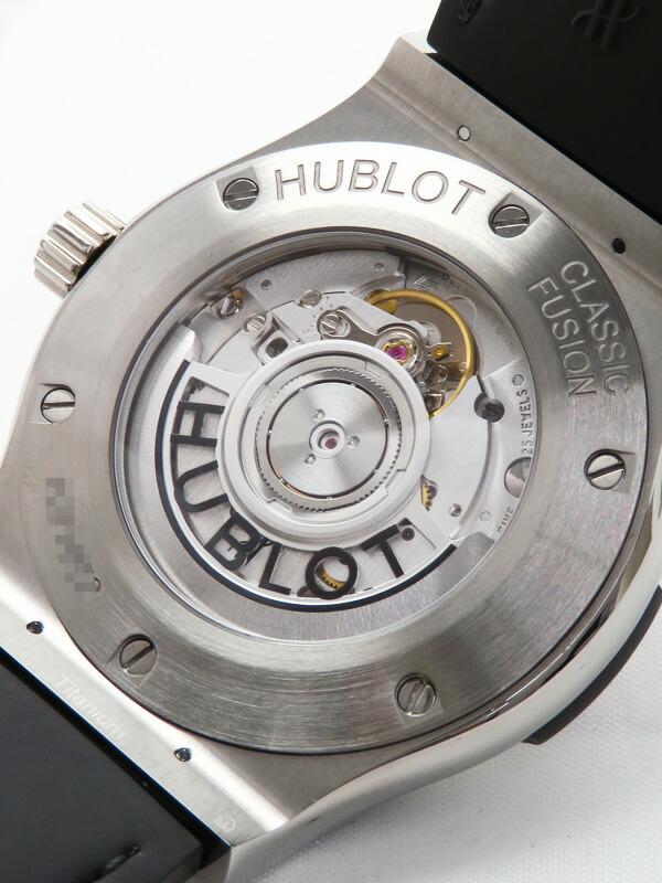 【HUBLOT】【裏スケ】【仕上済】ウブロ『クラシック フュージョン チタニウム ブラックシャイニー』542.NX.1270.LR メンズ 自動巻き 6ヶ月保証【中古】