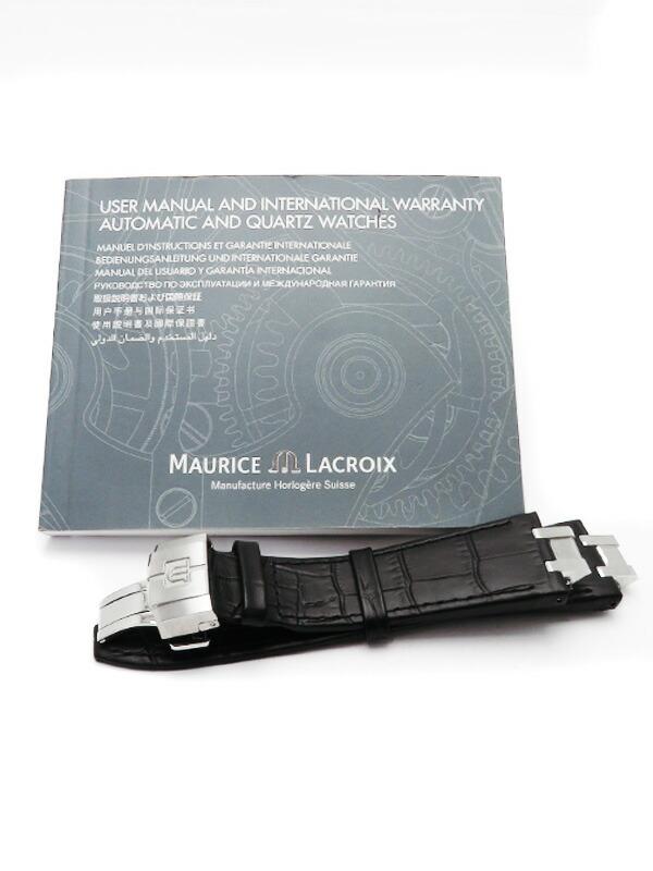 【MAURICE LACROIX】【裏スケ】【'18年購入】モーリスラクロア『アイコン メンズ』AI6008-SS002-130-1 メンズ 自動巻き 1ヶ月保証【中古】
