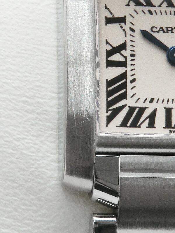 【Cartier】【'19年メーカーコンプリートサービス済】カルティエ『タンクフランセーズSM』W51008Q3 レディース クォーツ 3ヶ月保証【中古】