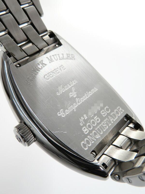 【FRANCK MULLER】【仕上済】フランクミュラー『コンキスタドール』8005SC メンズ 自動巻き 3ヶ月保証【中古】