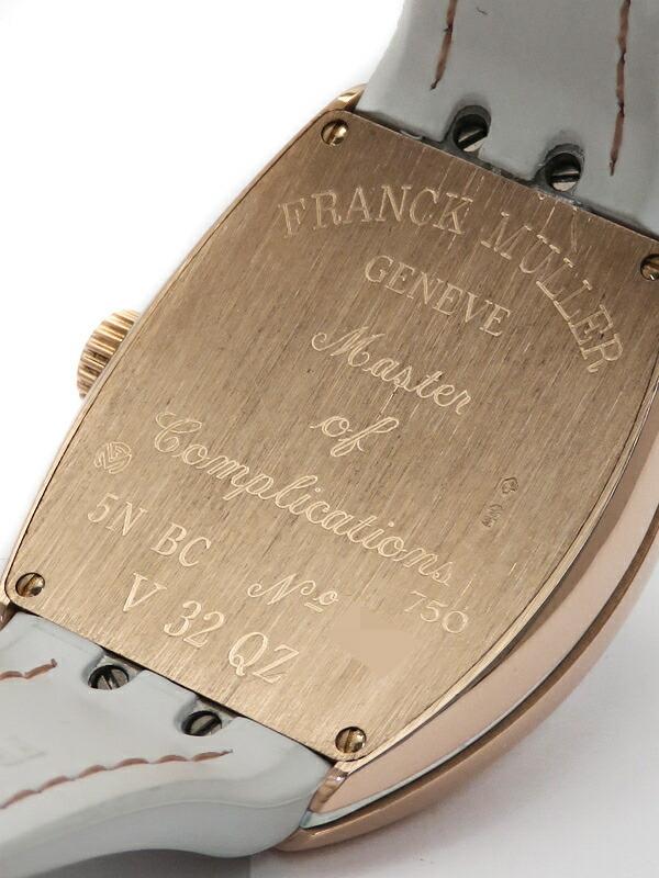 【FRANCK MULLER】【電池交換・仕上済】【PGケース】フランクミュラー『ヴァンガード』V32QZ 5NBC レディース クォーツ 6ヶ月保証【中古】