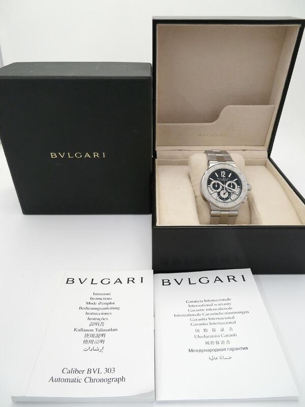 【BVLGARI】【裏スケ】ブルガリ『ディアゴノ カリブロ 303』DG42SCH メンズ 自動巻き 6ヶ月保証【中古】