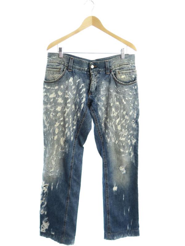 【DOLCE&GABBANA】【イタリア製】【ドルガバ】【ジーパン】ドルチェアンドガッバーナ『ジーンズ size50』G4Y0BD/G8D10 メンズ デニムパンツ 1週間保証【中古】