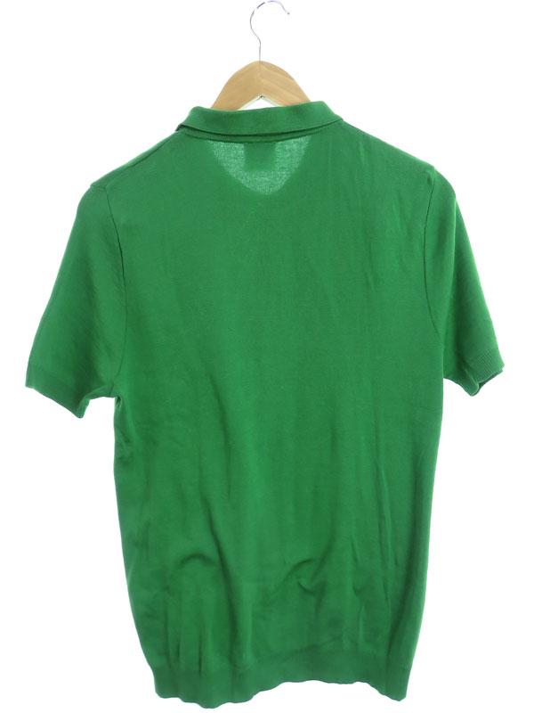 【Letroyes】【フランス製】【トップス】ルトロワ『ニット 半袖ポロシャツ sizeL』メンズ 1週間保証【中古】