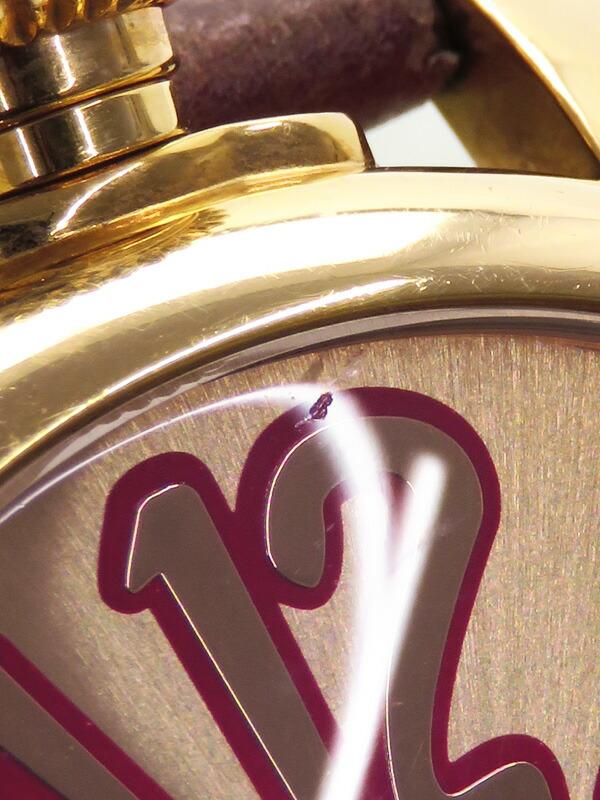 【GaGa MILANO】【電池交換済】ガガミラノ『マヌアーレ 40mm』5021.8 レディース クォーツ 1週間保証【中古】
