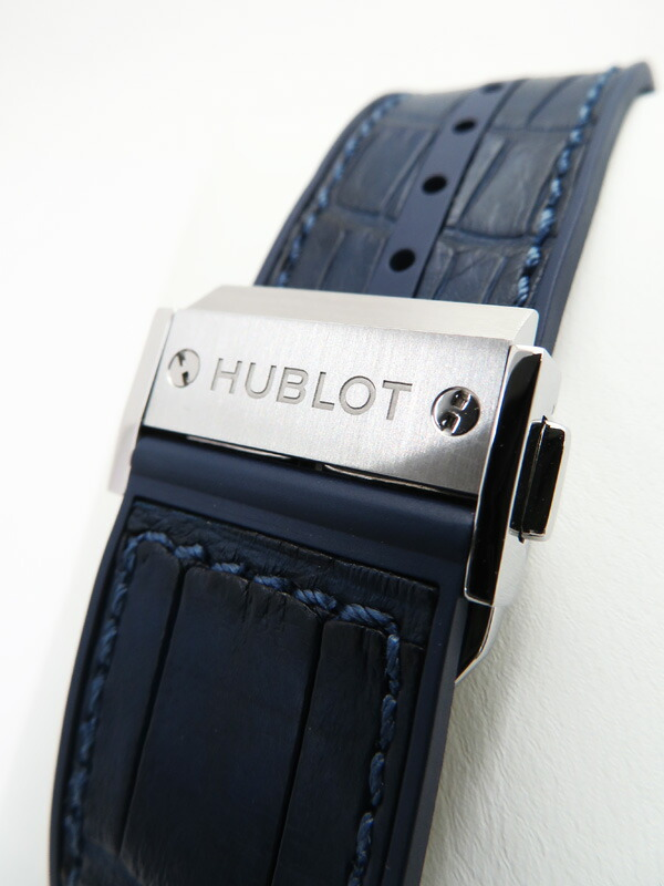 【HUBLOT】【裏スケ】【仕上済】ウブロ『ビックバン スチールブルー』301.SX.7170.LR メンズ 自動巻き 6ヶ月保証【中古】
