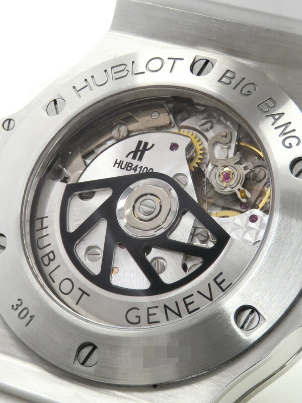 【HUBLOT】【裏スケ】ウブロ『ビッグバン ベゼルダイヤ』301.SE.230.RW.114 メンズ 自動巻き 6ヶ月保証【中古】
