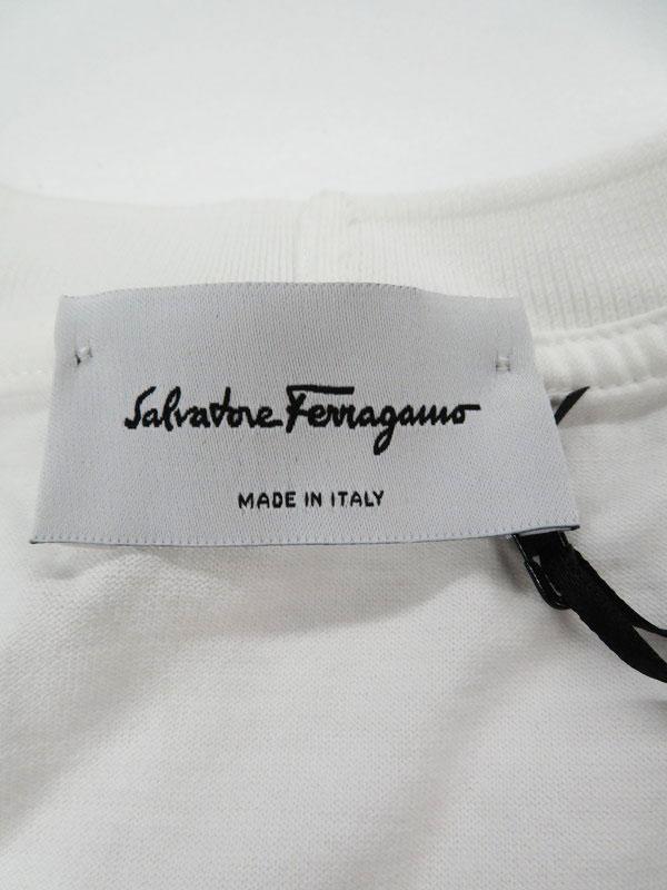 【Salvatore Ferragamo】【イタリア製】【トップス】フェラガモ『半袖Tシャツ sizeM』120564 0723419 メンズ カットソー 1週間保証【中古】
