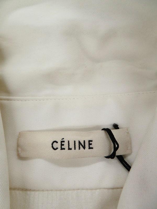 【CELINE】【フィービー期】【フランス製】セリーヌ『長袖ワンピース size36』2 6M21/4720 レディース 1週間保証【中古】