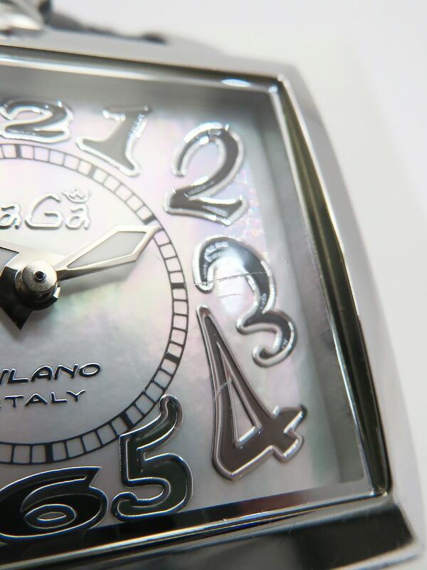 【GaGa MILANO】【電池交換済】ガガミラノ『ナポレオーネ』6030.5 レディース クォーツ 1週間保証【中古】