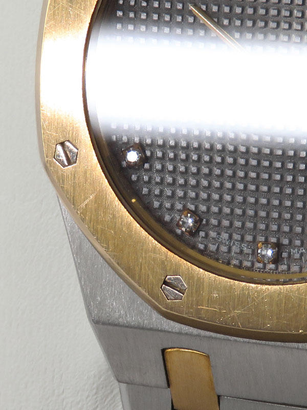 【AUDEMARS PIGUET】【電池交換済】オーデマピゲ『ロイヤルオーク 11Pダイヤ』56303/789 メンズ クォーツ 6ヶ月保証【中古】