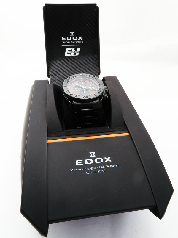 【EDOX】【内部点検済】エドックス『クロノオフショア1 クロノグラフ』01115-37N-NRO メンズ 自動巻き 3ヶ月保証【中古】