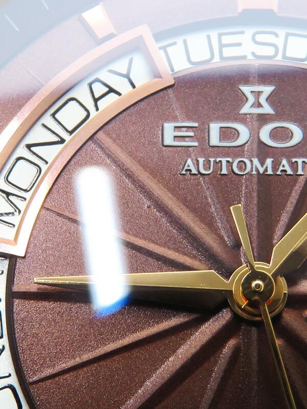 【EDOX】エドックス『グランドオーシャン デイデイト』83006 357BRR BRIR メンズ 自動巻き 1ヶ月保証【中古】