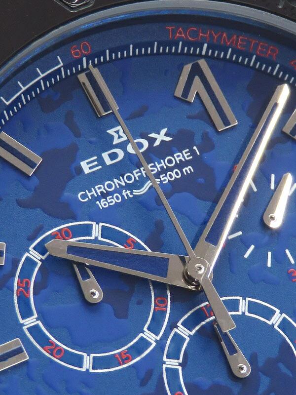 【EDOX】エドックス『クロノオフショア1 クロノグラフ スペシャルエディション』10221-37BV5-BUM5 メンズ クォーツ 1ヶ月保証【中古】
