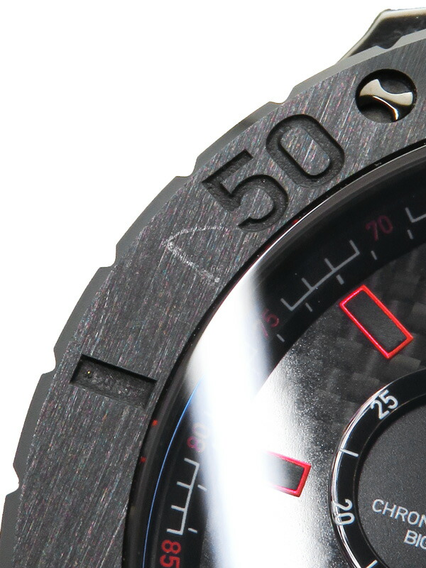 【EDOX】【電池交換済】エドックス『クロノオフショア1 クロノグラフ ビッグデイト』10020-37N-NRO メンズ クォーツ 1ヶ月保証【中古】
