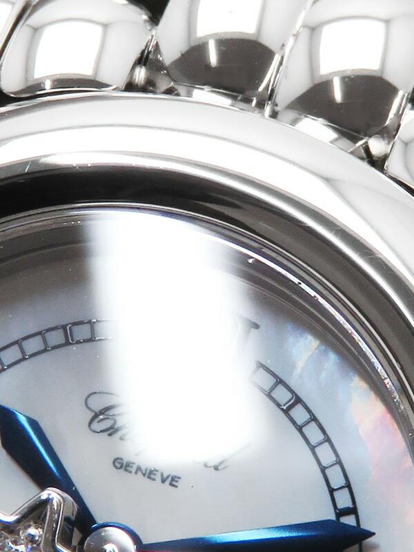【Chopard】【電池交換・仕上済】ショパール『ハッピースポーツ ムーン&スター』27/8250-21 レディース クォーツ 3ヶ月保証【中古】