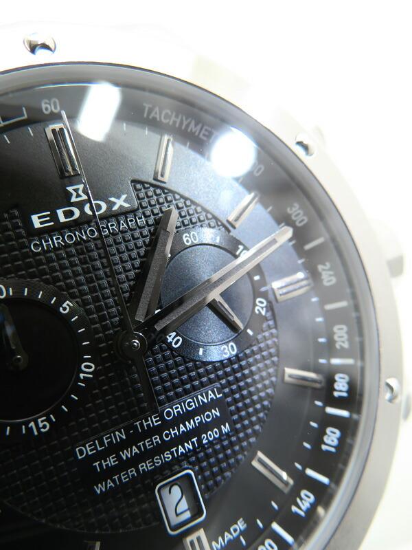 【EDOX】【電池交換済】エドックス『デルフィン クロノグラフ』10108-3-NIN メンズ クォーツ 1週間保証【中古】