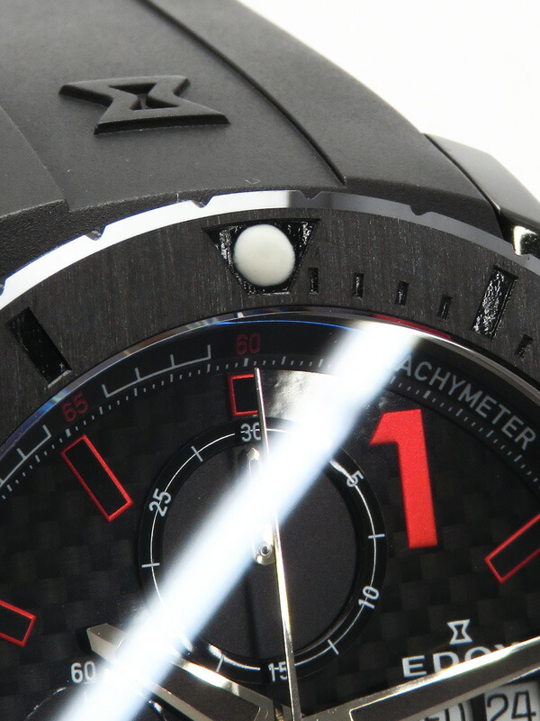 【EDOX】【内部点検済】エドックス『クラスワン クロノオフショア』01114-37N-NRO メンズ 自動巻き 1ヶ月保証【中古】