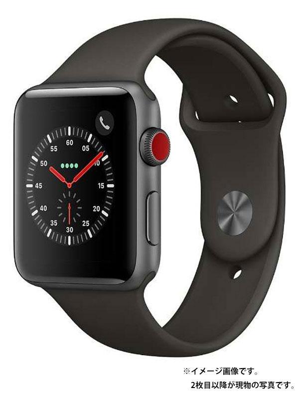 【Apple】【アップルウォッチ シリーズ3】アップル『Apple Watch Series 3 GPS+Cellularモデル 42mm』MR302J/A ボーイズ スマートウォッチ 1週間保証【中古】