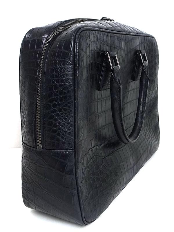 bad2ec3ae39d ノーブランド『クロコダイル ブリーフケース』メンズ ビジネスバッグ 1週間保証【中古】