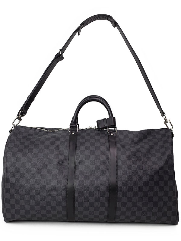 39ad5b77ca6e 【LOUIS VUITTON】【旅行用ボストンバッグ】ルイヴィトン『ダミエ グラフィット キーポル バンドリエール55』N41413 メンズ 2WAY バッグ 1週間保証【中古】