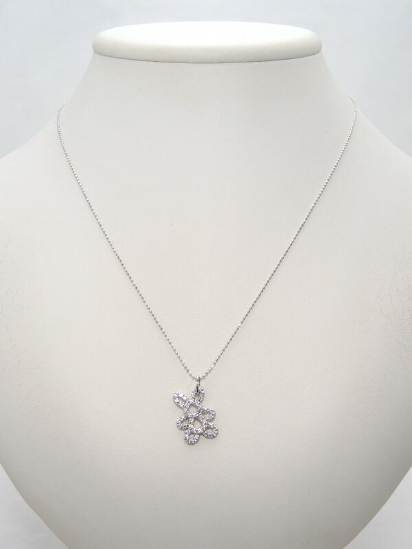 セレクトジュエリー『K18WGネックレス ダイヤモンド0.50ct』1週間保証【中古】