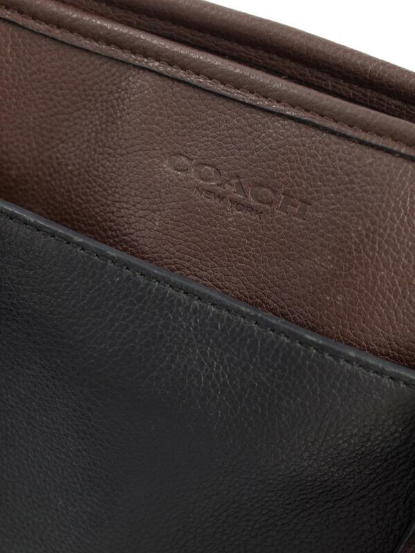 【COACH】コーチ『スムーズレザー ビジネストート』F54758 メンズ 2WAYバッグ 1週間保証【中古】